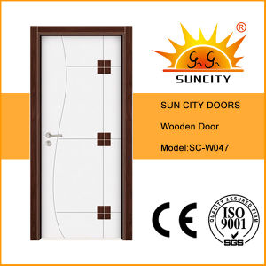 New Design Double Color Single Wooden Doors (SC-W047) pictures & photos