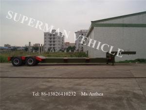 60t 10.5m 4 Axle Bogie Lowdeck/ Lowbed/ Lowloader Semi Truck Trailer pictures & photos