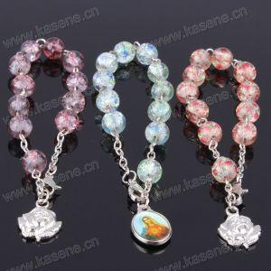 8mm Multicolour Glass Beads Charm Christian Bracelet