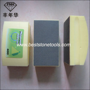 HD-3 Stone Glass Electroplated Diamond Hand Grinding Polishing Pad (100X55mm) pictures & photos