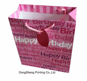 Beautiful Art Paper Gift Packaging Bag for Birthday Party