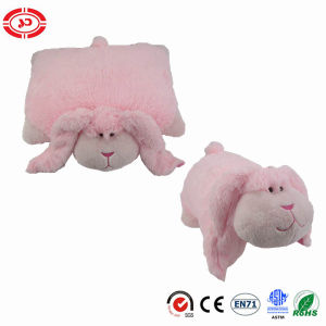 Pink Long Ears Cute Rabbit Soft Pillow 2in1 Plush Cushion pictures & photos