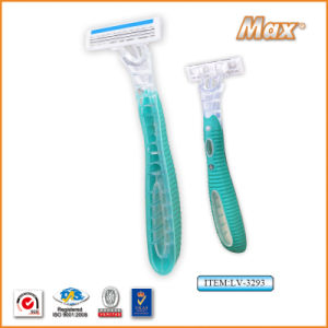 New Triple Stainless Steel Blade Disposable Shaving Razor (LV-3293) pictures & photos