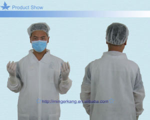 Blue or White PP Non Woven Visitor Coat pictures & photos