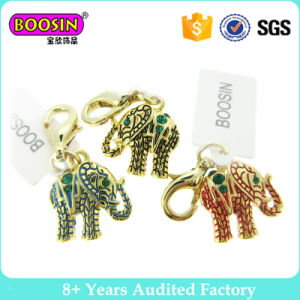 Gold Plating Lovely Little Elephant Charm for All Colors pictures & photos