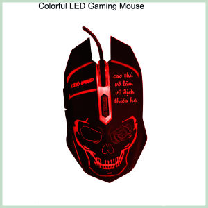 10% Discount Cool Design Colorful 6D LED Wired Optical Gaming Mouse (M-65) pictures & photos