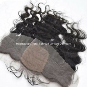 "18"" Silk Base Frontal Closure 13*4 Bw Lace Frontal Human Hairpieces"