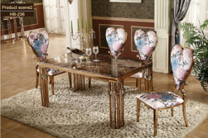 Modern Steel Golden Dining Room Chairs / Mable Dining Table Gold pictures & photos