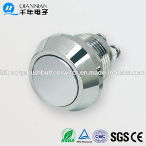 12mm 1no Momentary Flat Head Stainless Steel IP65 Metal Push Button Switch pictures & photos