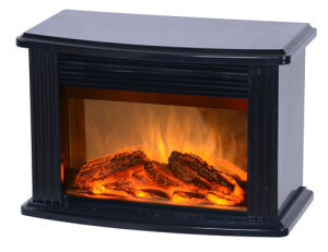 Black-Electric Mini Fireplace