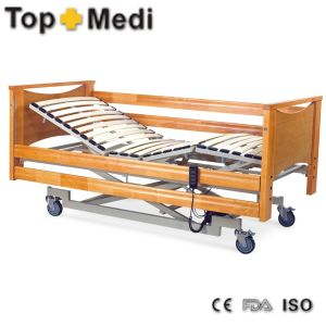 Hospital Furniture Wooden Bed Panels Three Function Steel Hospital Bed pictures & photos