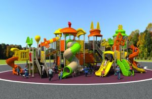 Factory Customized of Kids Outdoor/Indoor Playground Slide Hot Sell Preschool Equipment Amusement Park Sports Series New Moedels 2016 pictures & photos
