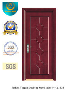 Simplified Chinese Style MDF Door for Interior with Solid Wood (xcl-029) pictures & photos
