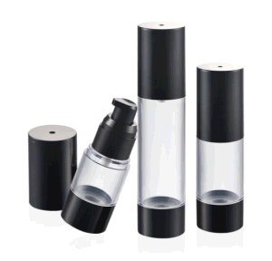 Plastic Clear Airless Bottle for Cosmetic Packaging pictures & photos