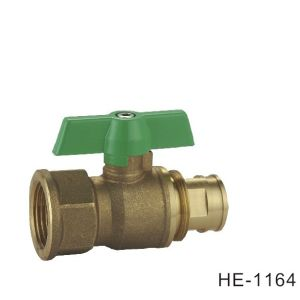 (HE-1164) Brass Ball Valve Pn25 with Wing Handle for Water, Oil pictures & photos