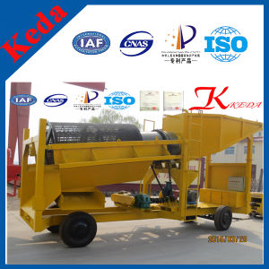 Quality Mobile Gold Mining Trommel with Sluice Box pictures & photos