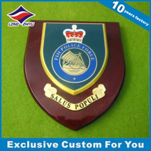 High Polished Etching Enamel Wood Shield Hanger Plaque Furniture Finished pictures & photos