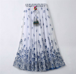 2016 Latest Design Women Printed Chiffon Beach Bohemian Skirt (16701) pictures & photos