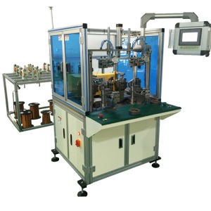Double Working Station Wheel Motor Automatic Stator Coil Winding Machine pictures & photos