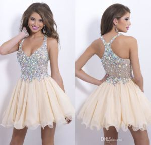 Crystals Organza Vestidos Mini Prom Dress Short Homecoming Cocktail Party Dresses Y2010 pictures & photos