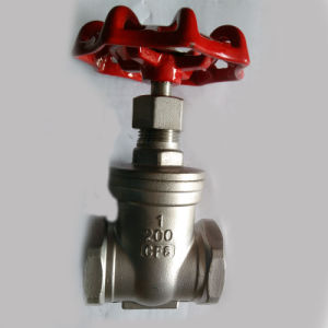 ANSI Stainless Steel 304 Female Threaded Gate Valve pictures & photos