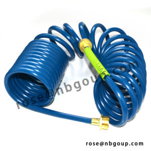 25FT Garden Coil Hose with Brass Connectors, PVC, EVA Material pictures & photos