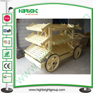 Wooden Display Bread Car for Store and Supermarket pictures & photos