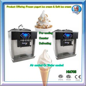 Frozen yogurt dispensing machine with high quality 2+1mixed flavour pictures & photos