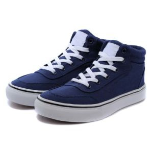 Men/Women Navy Blue Oxford Casual Sneakers Canvas Running Shoes pictures & photos