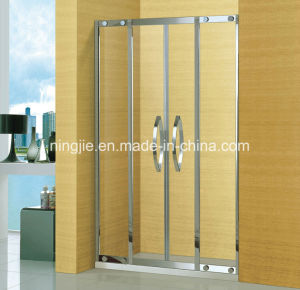 Luxury Bathroom Two Fixed Two Sliding Door Shower Screen (A-8935B) pictures & photos