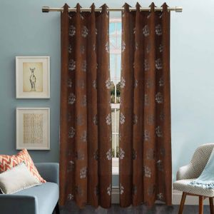 Jacquard Sheer Grommet Panel Window Curtain (HR14WT082) pictures & photos
