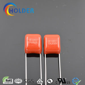 Miniature Size Metallized Polypropylene Cbb Capacitor (Cbb22 104j/630V P=7.5 L=25) pictures & photos