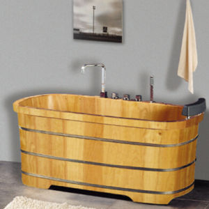 Hot Sales Beauty Salon Wooden Medicated Bath Tub (NJ-054) pictures & photos