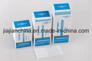Silver Handle Acupuncture Needles Without Guide Tube pictures & photos
