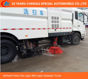 6wheel Foton Dry Type Wet Type Sweeper Truck pictures & photos
