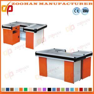 Shop Supermarket Money Cashier Desk Table Metal Checkout Counters (Zhc18) pictures & photos
