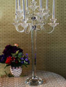 Crystal Candle Holder for Wedding Decoration (KS27025) pictures & photos