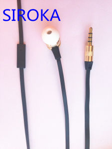 Wholesale Earphone Metal Earphone Flat Cable Earphone pictures & photos
