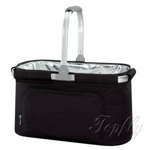 Customized Logos Promotional Folding Picnic Cooler Shopping Basket pictures & photos