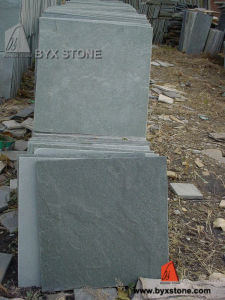 Green Natural Stone Paving Slate Tile for Roof / Floor pictures & photos
