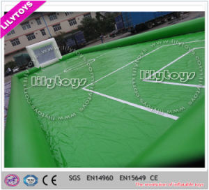 PVC material Lead Free Green Inflatable Soccer Football Field pictures & photos