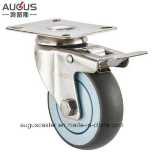 Stainless Steel 304 Series TPR Wheel Total Brake