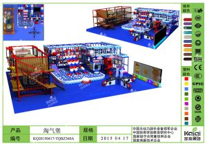 Kaiqi Indoor Play Center for Children with Aerial Assult Course and Soft Play Playground (KQ20150417-TQBZ360A) pictures & photos