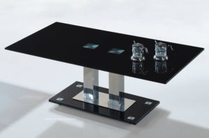 Black Pattern Coffee Table Top Glass with Certificate Ce, SGCC, Australain Bench Mark pictures & photos