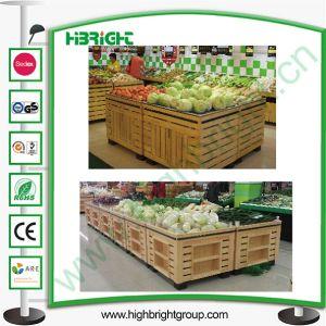 Super Market Wooden Vegetable Display Racks pictures & photos