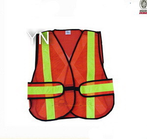Hi Vis Reflective Safety Vest with Csystal Tape pictures & photos