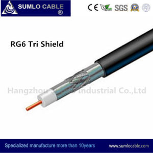 RG6 Tri -Shield Drop Cable for Distribution Line (F6TSV, F6TSVM) pictures & photos