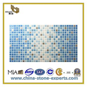 Mix Color Polished Granite Mosaic Tiles (YQC) pictures & photos