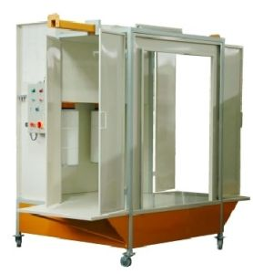 Manual Tunnel Powder Coating Spray Booth with Two Filter pictures & photos