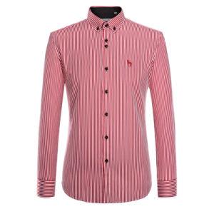 2016 Long Sleeve Printed Men China Collar Shirt for Men